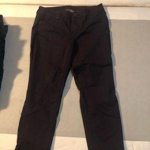 Maurice's brand dark plum skinny jeans.
